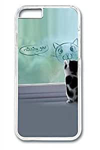Cat Painting Slim Soft Cover Case For Sumsung Galaxy S4 I9500 Cover PC Transparent Cases