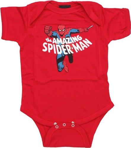 Spider-Man Fist of Fury Romper (24 Months, Red)
