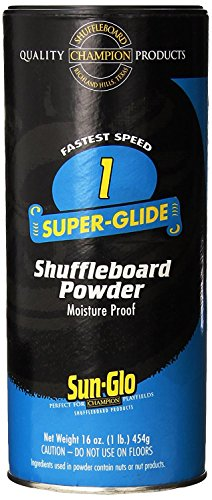Sun-Glo Speed 1 (Super Glide Wax) Shuffleboard Table Powder, 16 oz. Can (Shuffleboard Equipment)