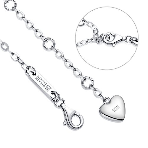 Billie Bijoux Womens 925 Sterling Silver Infinity Endless Love Symbol Charm Adjustable Bracelet for Mom