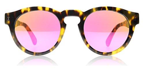 Illesteva Women's Leonard Mirrored Sunglasses, Tortoise/Pink, One - Sunglasses Leonard Illesteva By