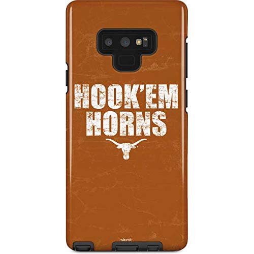 Skinit University of Texas at Austin Galaxy Note 9 Pro Case - Texas Longhorns Hook Em Design - High Gloss, Scratch Resistant Phone Cover ()