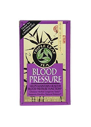 Tea Herb Blood Pressure (Triple Leaf Tea, Tea Bags, Blood Pressure, 1.06-Ounce Bags, 20-Count Boxes, Pack of 6)