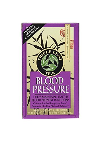 Triple Leaf Tea, Tea Bags, Blood Pressure, 1.06-Ounce Bags, 20-Count Boxes, Pack of 6 (Triple Life Tea)