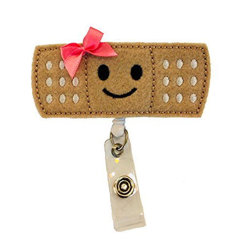 Bandaid Badge Reel Holder – Nursing Name Badge Holder – Felt Badge Reel for Nurses, Students & Teachers – Cute & Practical ID Badge Holder – Alligator Clip – Easy to Use & Resistant