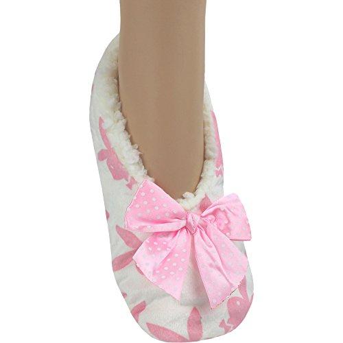TeddyTs Damen Hausschuhe Pink Schwein One Size Cream & Pink