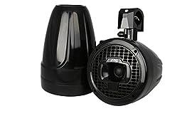 Power Sports Marine Wakeboard Tower Speakers, 8-Inch - Black