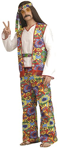 [Forum Novelties Men's Hippie Dippie Costume 60S 70S Bell Bottom Pants Halloween One Size Fits Most] (70s Couple Costumes)