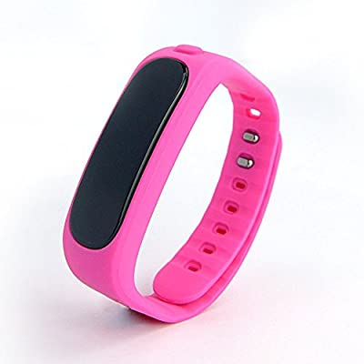 Aottom Fitness Activity Tracker Bluetooth 4.0 Smartband Sport Bracelet Pedometer Wristband For IOS Samsung Android(Pink)
