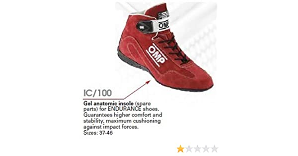 Marr/ón OMP OMPIC//10037 Gel Insole para Endurance Zapatillas Talla 37