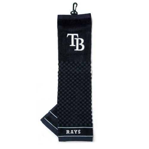 - Team Golf MLB Tampa Bay Rays Embroidered Golf Towel, Checkered Scrubber Design, Embroidered Logo