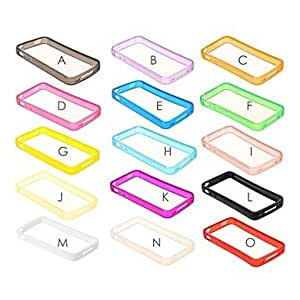 Mini - Solid Color TPU Soft Bumper Frame for iPhone 4/4S , Color: A
