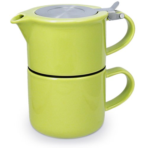 FORLIFE Tea for One with Infuser 14 ounces, Lime