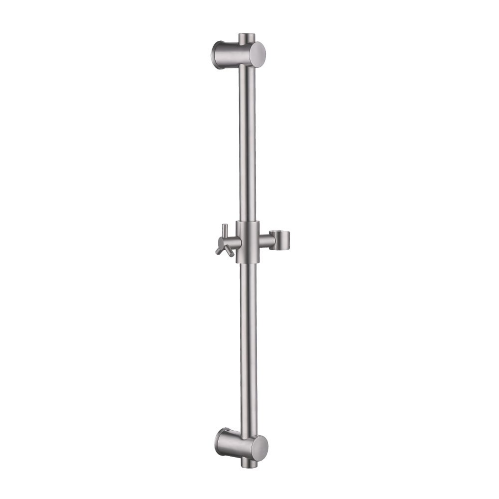 KES Slide Bar with All Brass Handheld Shower Bracket Stainless Steel Height and Angle Adjustable, Brushed, F203-2