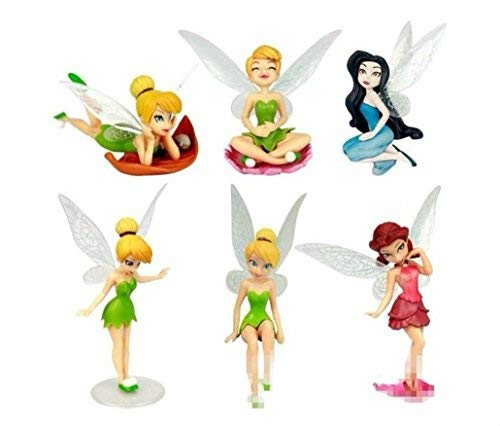 Tinkerbell Icing - Tinkerbell Fairies Fairy Playset 6 Figure Cake Topper