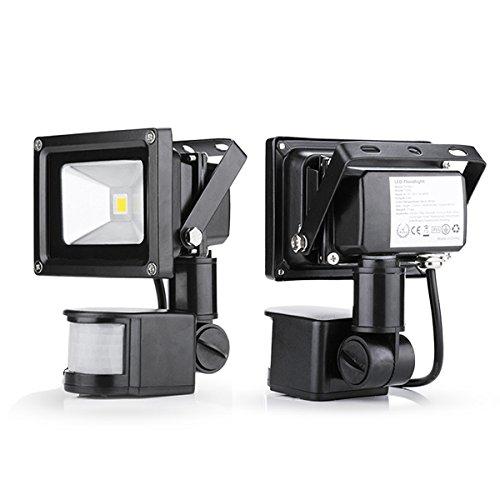 2x 20W LED SMD Strahler Aussenstrahler Spot + Bewegungsmelder warmweiß/warmweiss Fluter Flutlichtstrahler scheinwerfer Flutlicht wasserdicht IP65