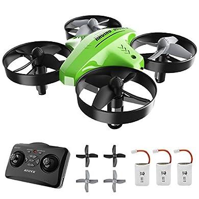 ATOYX Mini Drone, AT-66C RC Drone Niños 3D Flips, Modo sin Cabeza, Estabilización de Altitud, 3 Modos de Velocidad, 4 Canales 6-Ejes, 3 Baterías, Regalo para Niños y Principiantes (Verde) a buen precio