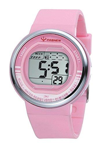 Pasnew-346 Reloj niña o Niño Reloj Deportivo Digital Reloj Alarma Luz Impermeable Cronómetro multifunción de Moda.: Amazon.es: Relojes