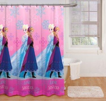 disney frozen stoff vorhang fr die dusche kinder - Stoff Vorhang Dusche