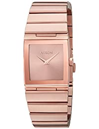 Nixon Women's 'Lynx' Quartz Metal and Stainless Steel Automatic Watch, Color:Rose Gold-Toned (Model: A1092897-00)