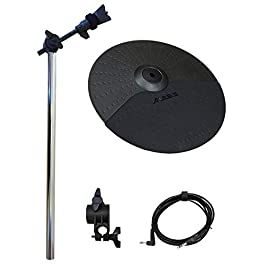 Alesis Turbo Cymbal Expansion Set: 10 Inch Cymbal, Cymbal Arm, Rack Clamp and 10ft TRS Cable [Compatible with Roland…