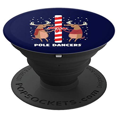 Pole Dancers Reindeer Christmas Santa Claus Gift - PopSockets Grip and Stand for Phones and Tablets ()