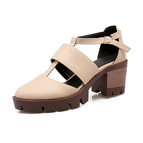 toe Urethane Sandali No Womens heel Lining Open Punta closure Asl04362 Chiusa weather Cold Albicocca Sandals A High Cold Balamasa Tessuto q1tTxaq