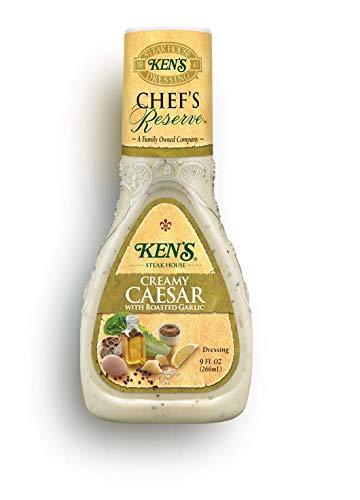 (Ken's Steak House Chef's Reserve Creamy Caesar W/Roasted Garlic Dressing, 9 Ounce)