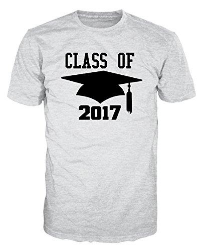 Dalesbury Class of 2017 University Graduation T-Shirt (XL, Ash Grey) - University Ash Grey T-shirt