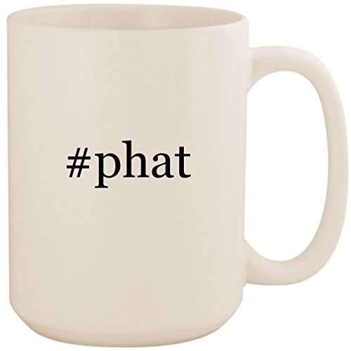 Price comparison product image #phat - White Hashtag 15oz Ceramic Coffee Mug Cup