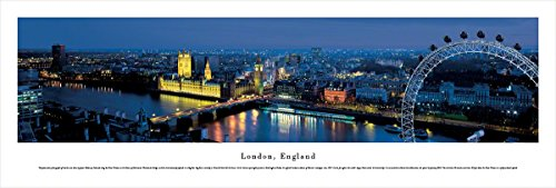 Blakeway Worldwide Panoramas London, England (Ferris Wheel) - Blakeway Panoramas Unframed Skyline Posters, (Rise Of The Far Right In America)