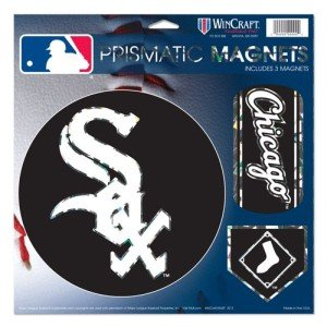 WinCraft MLB Chicago White Sox Prismatic Magnets Sheet, 11