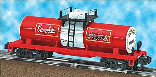 Gatx Black Tank Cars - American Flyer 6-48416 Campbell's Soup Tank Car Tomato single dome S gauge OOP