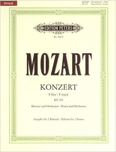 W.A Mozart Piano Concerto No.19 In F Major K.459 2 Piano Score PIANO MUSIC BOOK
