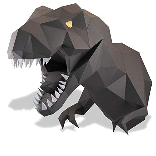 Amazon Com Paperraz Graphite Dinosaur Dino Head 3d Animal Puzzle