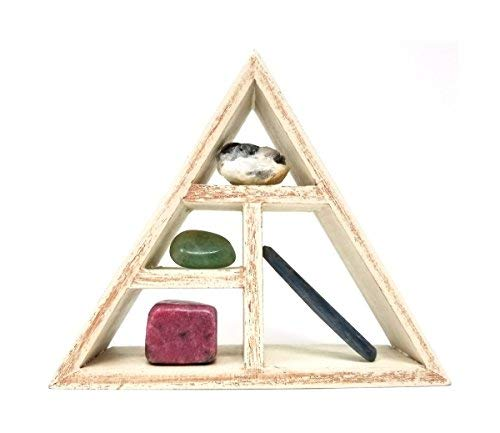people crystals Taurus Crystal Healing Set/Tumbled Stones and Wooden Geometric Triangle Shelf in Gift Box/Astrology Sign Present Taurus Birth Stones