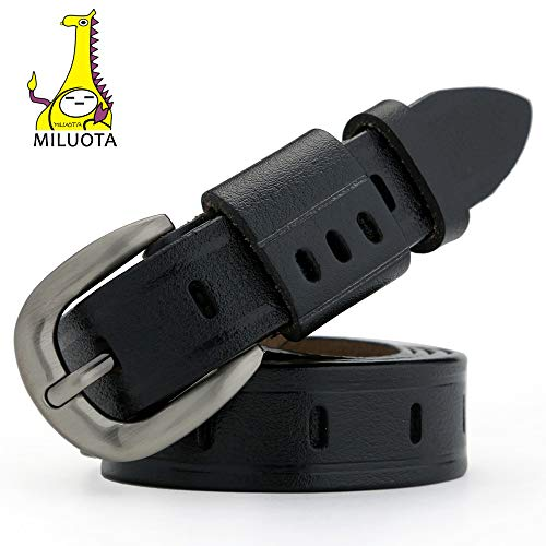 MILUOTA] Fashion Belt Designer Belts for Women Vintage Genuine Leather Women Belt Women Belts mu031