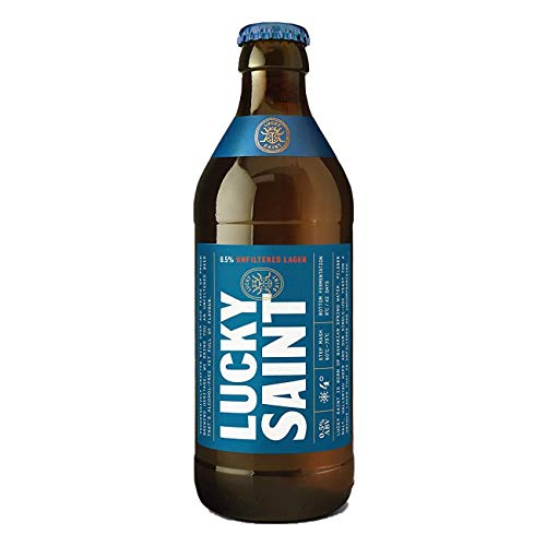 LUCKY SAINT – Alcohol Free Beer – Superior Unfiltered 0.5% ABV Beer – Natural Ingredients, Low Calories, Vegan Beer – 12 x 330ml Bottles