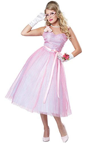 California Costumes Women's 50s Teen Angel, Pink/Blue, X-Small