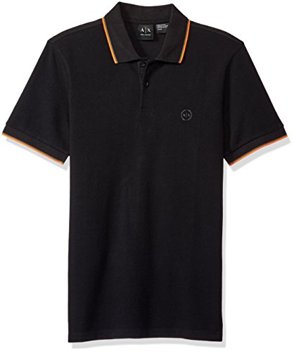 A%7CX+Armani+Exchange+Men%27s+Core+Ss+Polo+with+Contrast+Tipping%2C+Black%2C+Large