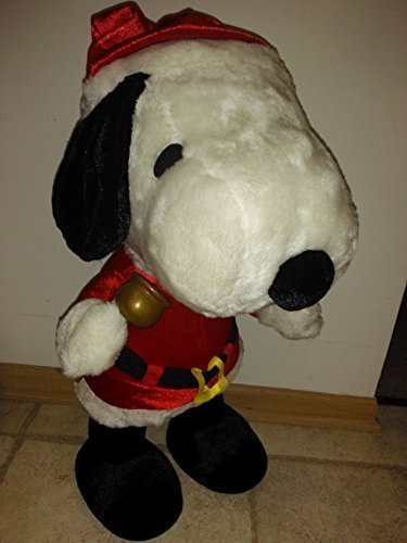 Amazon Com Large 25 Snoopy In Santa Outfit Plush Toy Toys Games