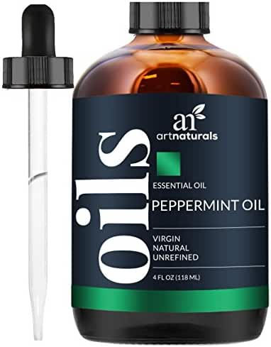 ArtNaturals Pure Peppermint Essential Oil - 100% Pure and Natural Premium Therapeutic Grade Mentha Peperita Essential Oil, Best Fresh Scent for Home and Work, Perfect to Repel Mice and Spiders, 4 oz.
