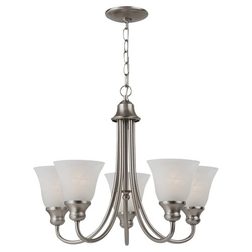 (Sea Gull Lighting 35940-962 Windgate Five Light Chandelier, Brushed Nickel Finish)