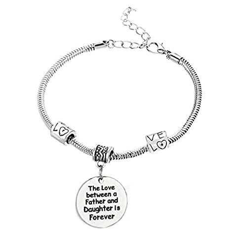 The Love between a Father and Daughter is Forever Bracelet - Family Jewelry Gift - 10