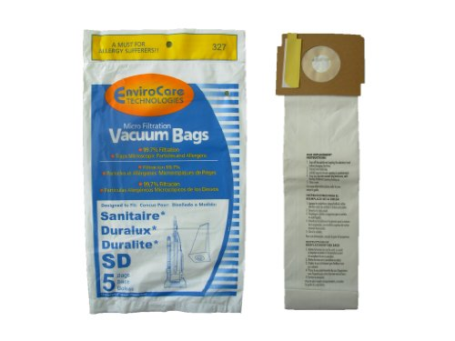 (125 Sanitaire Sd Micro with Closure Vacuum Bags, Electrolux, Eureka, Duralux Vacuum Cleaners, 63262, SD - 63262, Commercial SC9180, SC-9180, SC9100, C4900, S9120, SC9150)