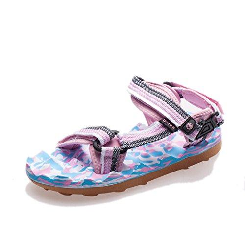 Chaussures Sandales Anti en Chaussures Plage Femme Pantoufles Dérapant Caoutchouc 1 Été Sangle De Plates Bout Ouvert Semelle HwwYqgBU