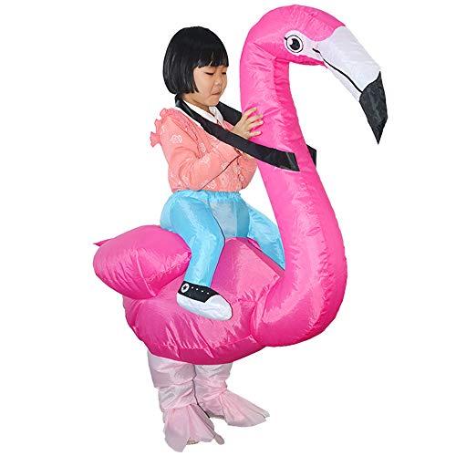 HUAYUARTS Men Inflatable Costume Flamingo Cloth Rose Women Fancy Dress Blow up Halloween Cosplay Gift, Child, Free -