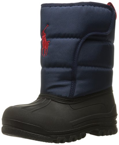 Polo Ralph Lauren Kids Boys' 993532 Snow Boot, Navy, 10 M US Toddler by Polo Ralph Lauren (Image #1)