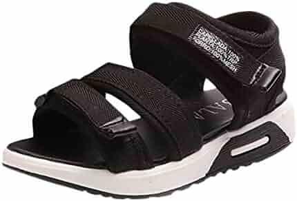 7f0336e7ce8 Axinke Kids Girls Casual Open-toe Summer Canvas Platform Sport Sandals