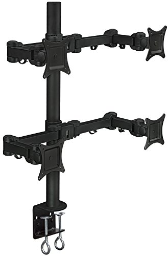 - Mount-It! Quad Monitor Desk Mount for Desktop, 4 LCD Screens, Articulating Arm, Supports 20, 22, 23, 24, 25, 27 Inch, VESA 75x75 mm and 100x100 mm, 88 Lb Capacity, Clamp, Black (MI-754)
